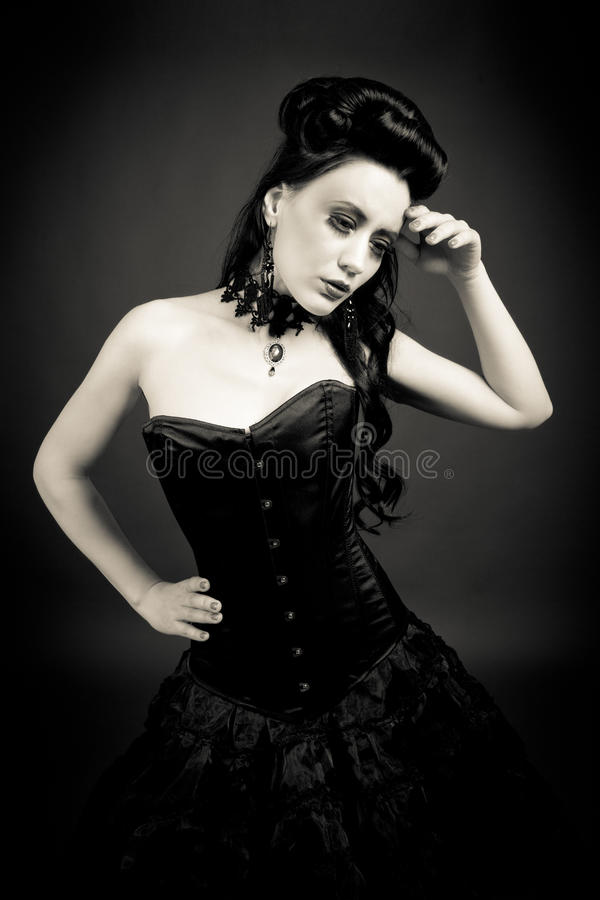 Gothic woman royalty free stock photo