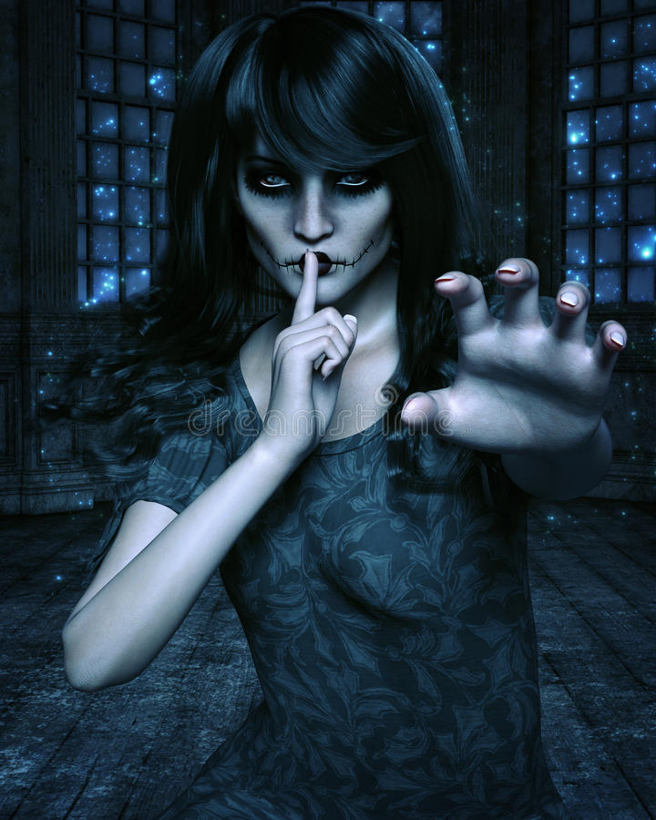 Gothic woman stock photos