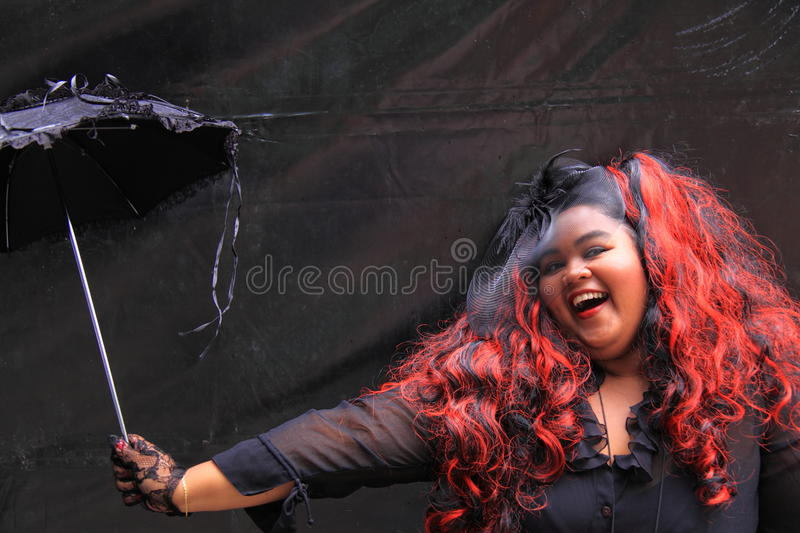Gothic woman Summer Darkness royalty free stock photo