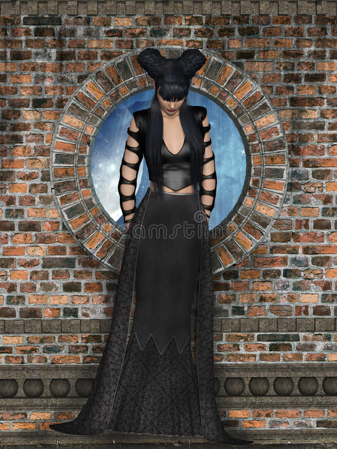 Gothic woman stock images
