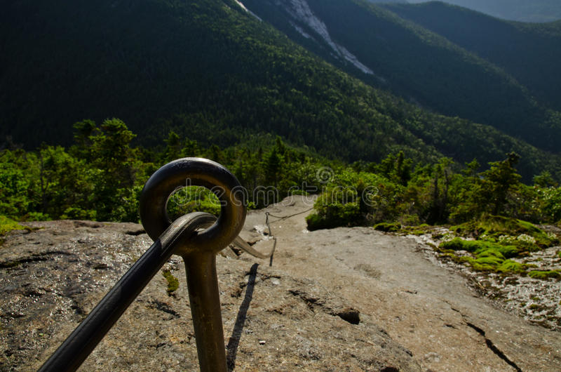 Gothics Mountain cable route in the Adirondack Hig royalty free stock images