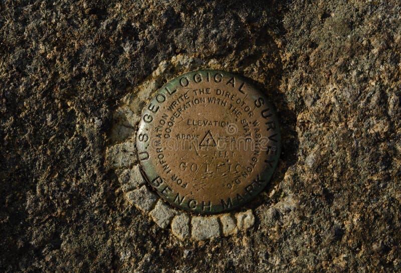 Gothics Mountain USGS Benchmark stock image
