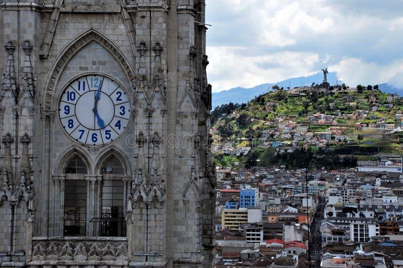 Gothiic stil i Quito, Ecuador fotografering för bildbyråer