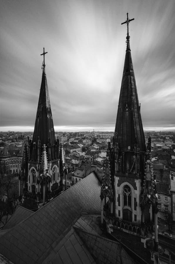 gotic的教会 库存图片