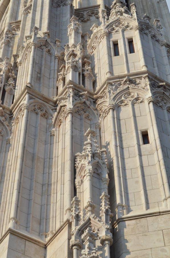 Gotic称呼了马赛厄斯教会墙壁  库存照片