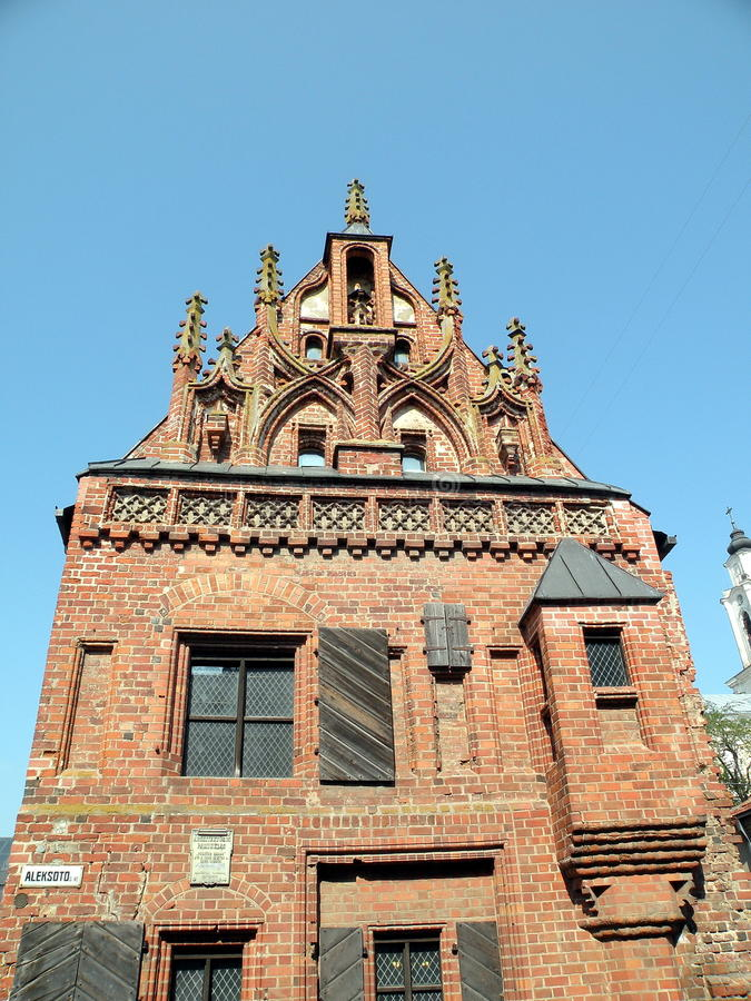 Download Gotic building in Kaunas stock image. Image of architectural - 20689487