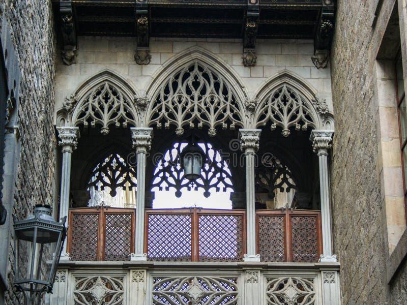 Gotico de banlieue à Barcelone image stock