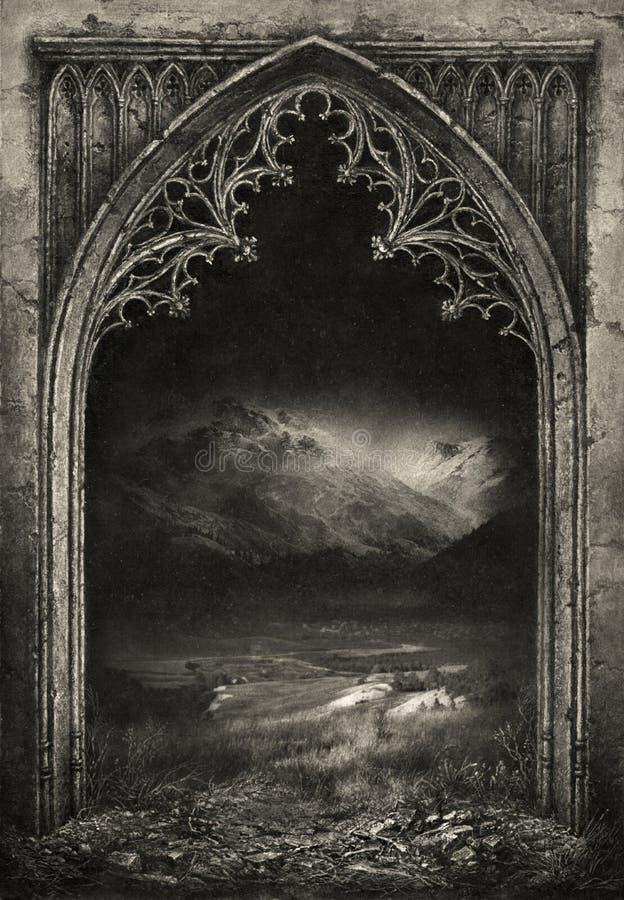 Gotisch frame vector illustratie