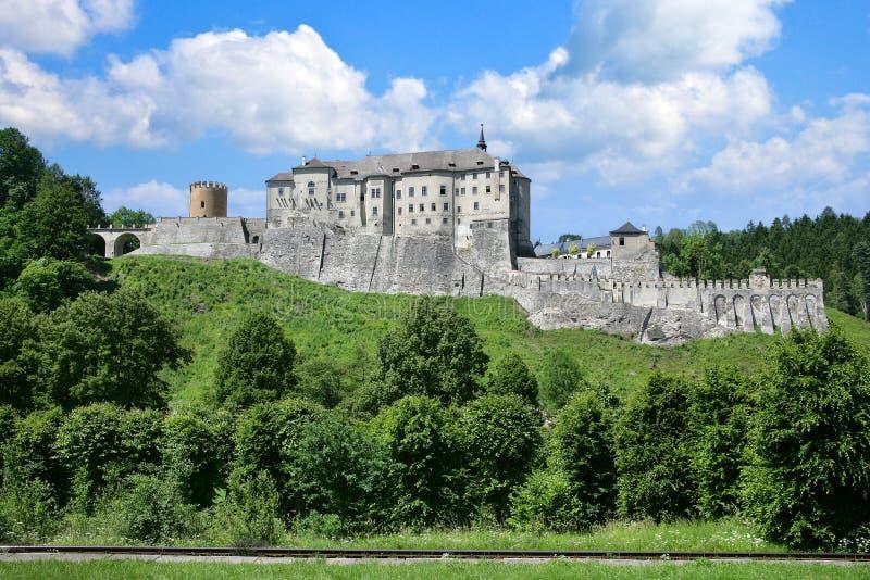 Gotisch kasteel Cesky Sternberk, Tsjechische republiek stock afbeeldingen
