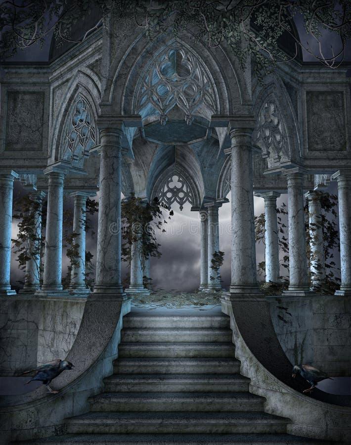 Gotisch kerkhof 6 vector illustratie