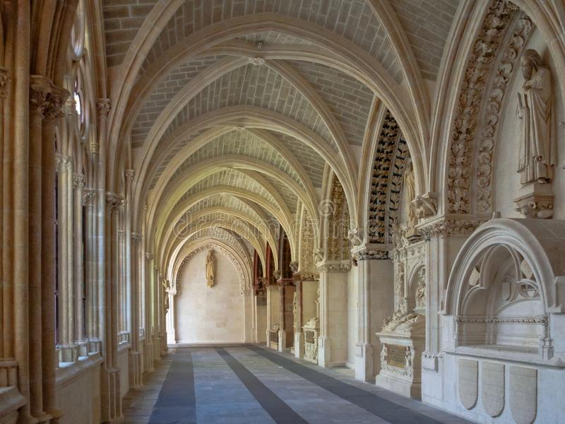 Gotisch klooster - Burgos royalty-vrije stock foto