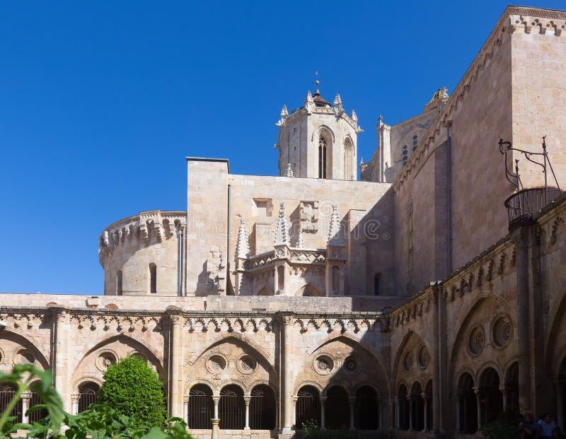 Gotisch klooster van Tarragona Kathedraal stock afbeelding