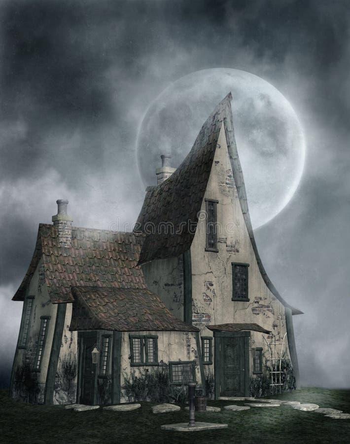 Gotisch landschap 83 royalty-vrije illustratie