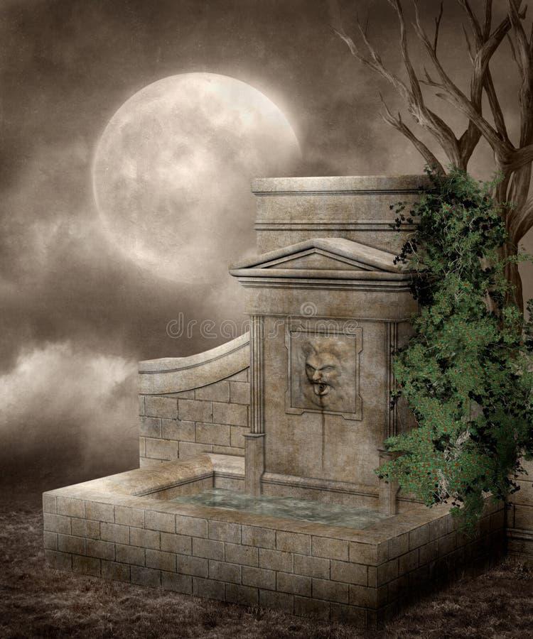 Gotisch landschap 87 vector illustratie