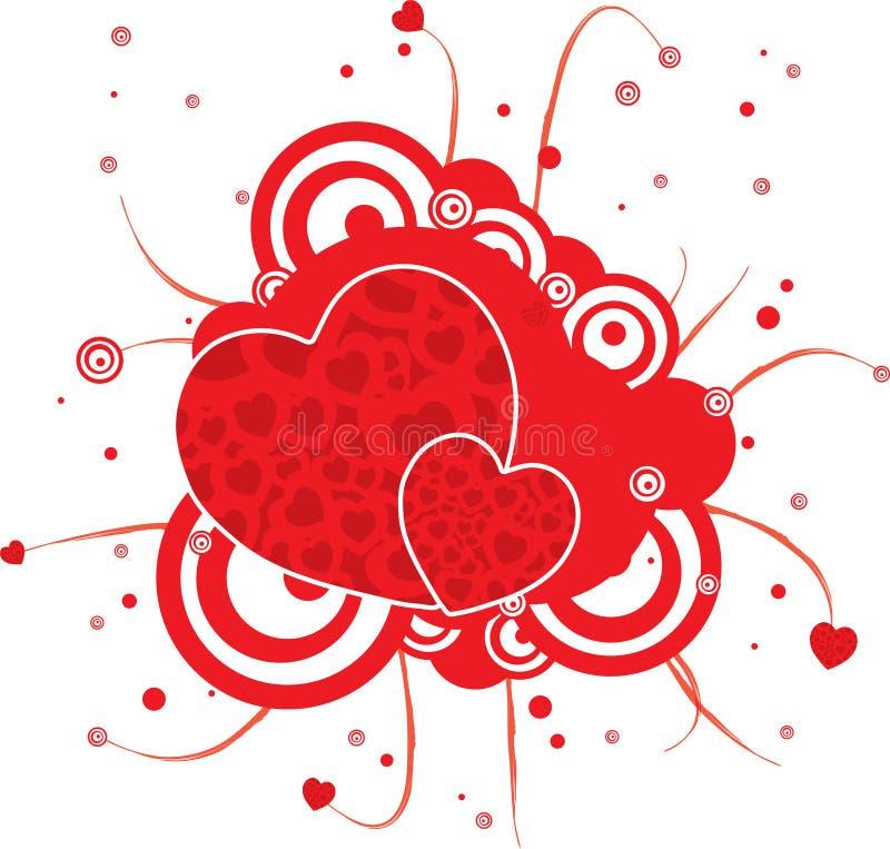 Gotisch rood hart vector illustratie