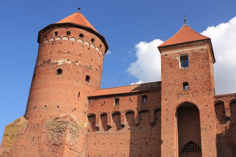 Gotisch veertiende-eeuwkasteel in Reszel (Polen) stock afbeelding