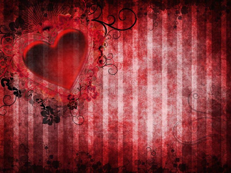 Gotische achtergrond met een hart royalty-vrije illustratie