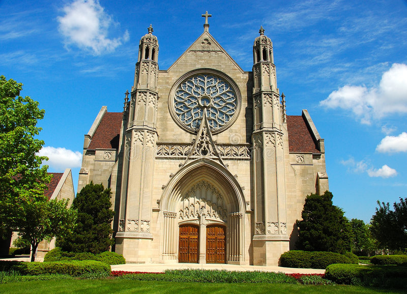 Gotische Architektur-Kirche stockfotografie
