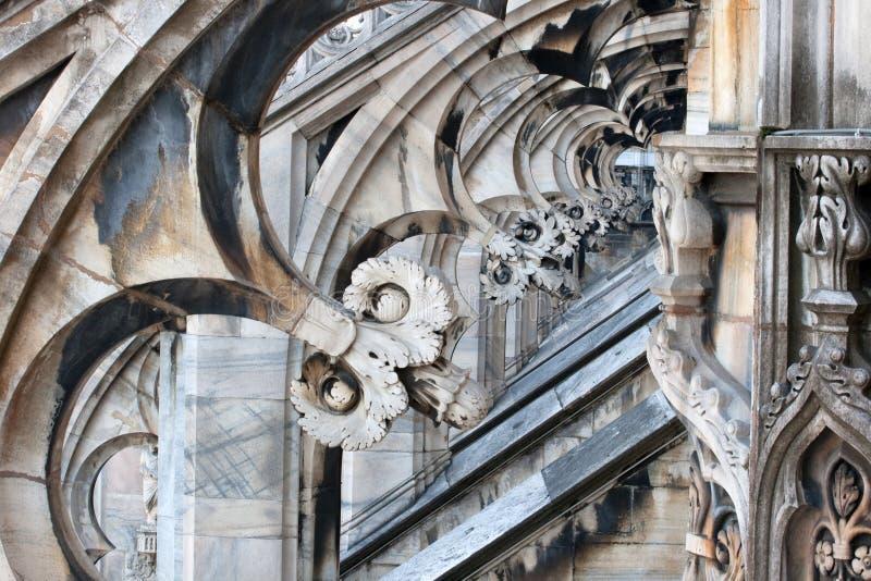 Gotische Bögen stockbild