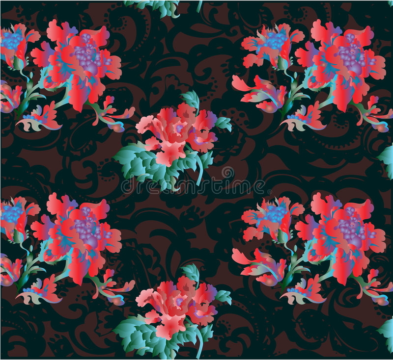 Gotische bloemachtergrond stock illustratie
