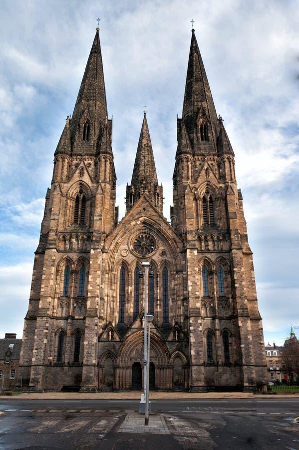 Gotische cathedrale in Edinburg Schotland royalty-vrije stock foto