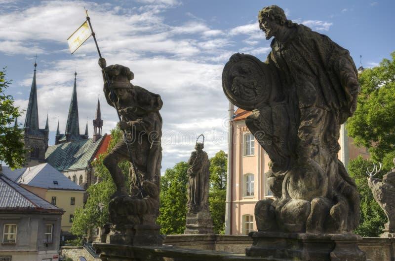 Gotische Chrudim (Tsjechische Republiek) stock fotografie