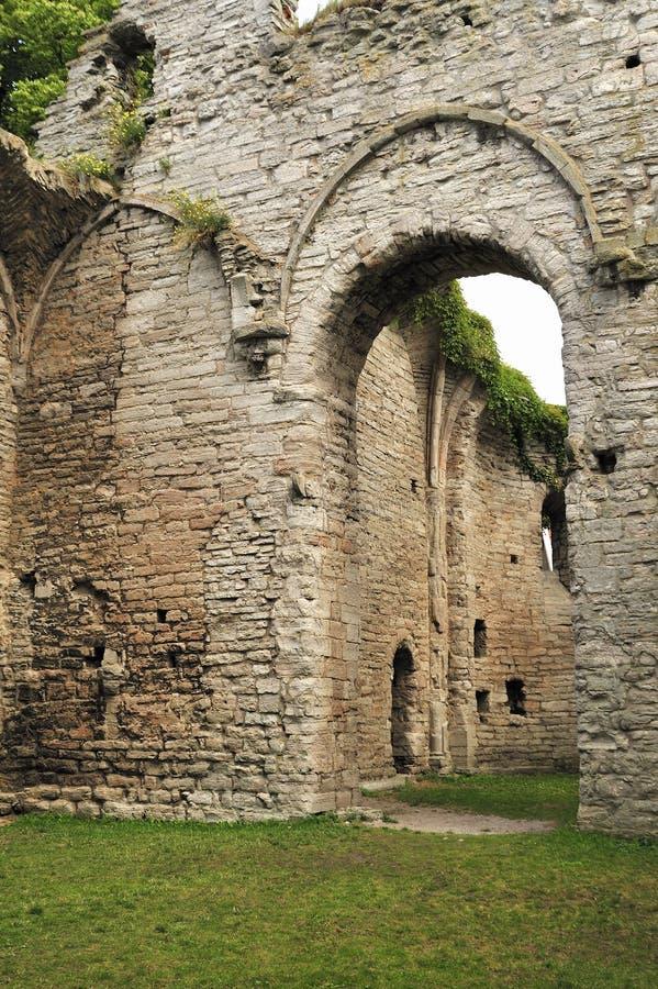 Gotische de kerkruïnes van Visby stock fotografie
