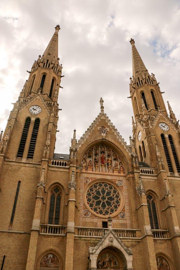 Gotische de stijlkerk van Boedapest, Hongarije van St Elizabeth stock fotografie