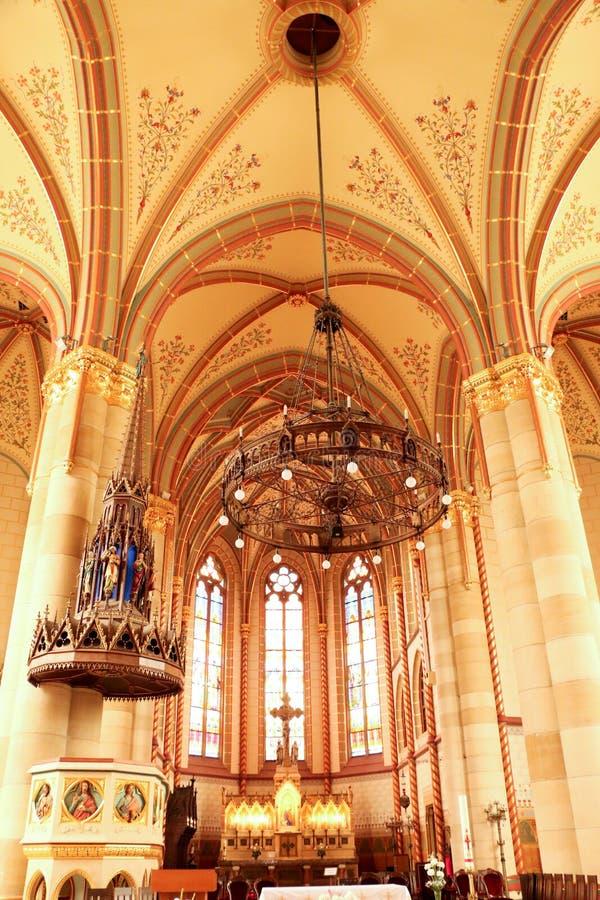Gotische de stijlkerk van Boedapest, Hongarije van St Elizabeth royalty-vrije stock afbeelding