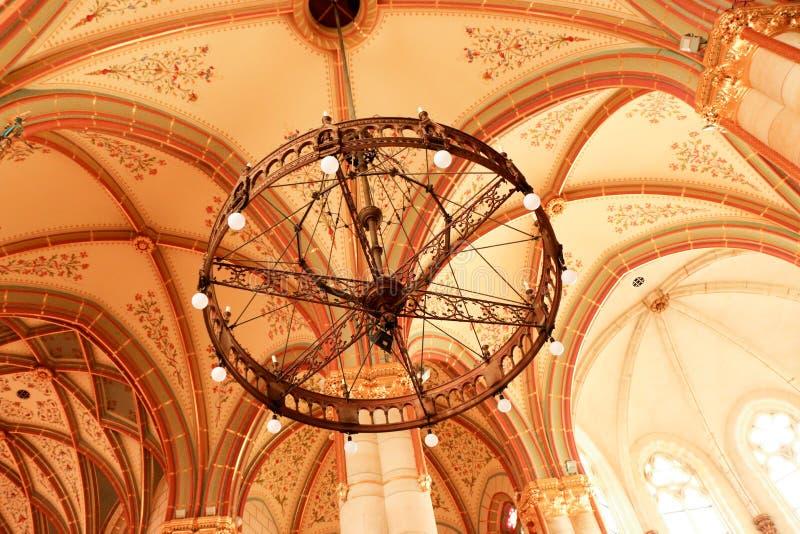 Gotische de stijlkerk van Boedapest, Hongarije van St Elizabeth royalty-vrije stock fotografie