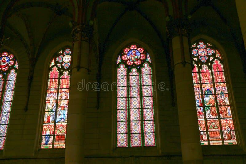 Gotische de stijlkerk van Boedapest, Hongarije van St Elizabeth royalty-vrije stock foto's