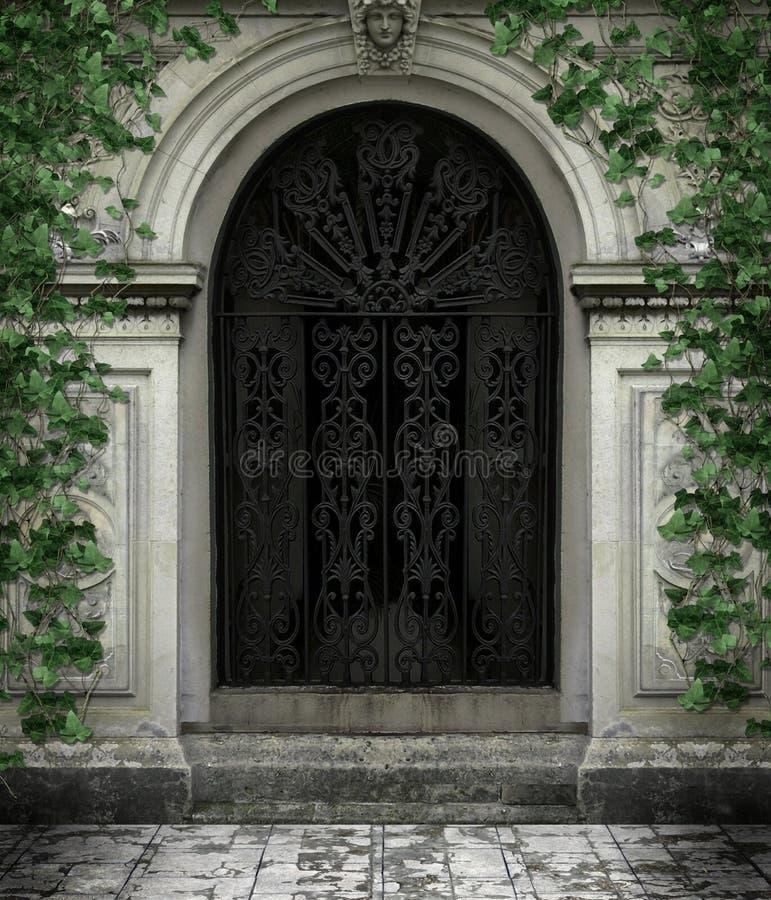 Gotische deur royalty-vrije illustratie
