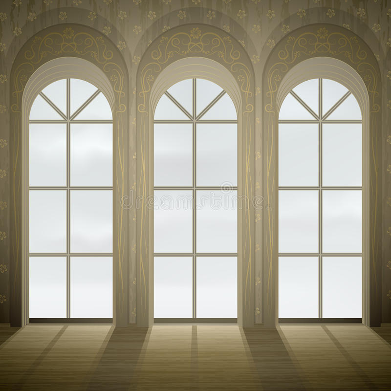 Gotische Fenster lizenzfreie abbildung