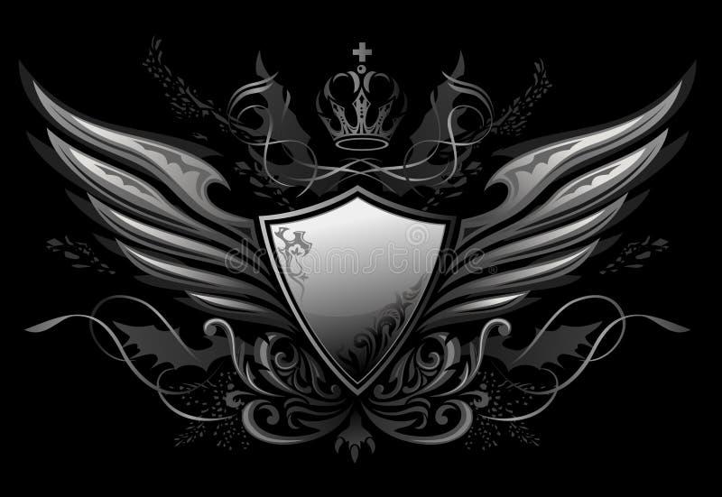 Gotische Insignes 2 van het Schild vector illustratie