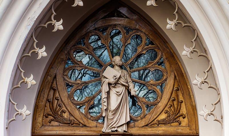 Gotische Kapelle im peterhof Kirche von St Alexander Nevsky lizenzfreies stockfoto