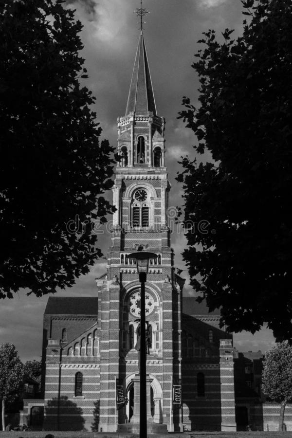 Gotische katholieke kerk stock afbeelding
