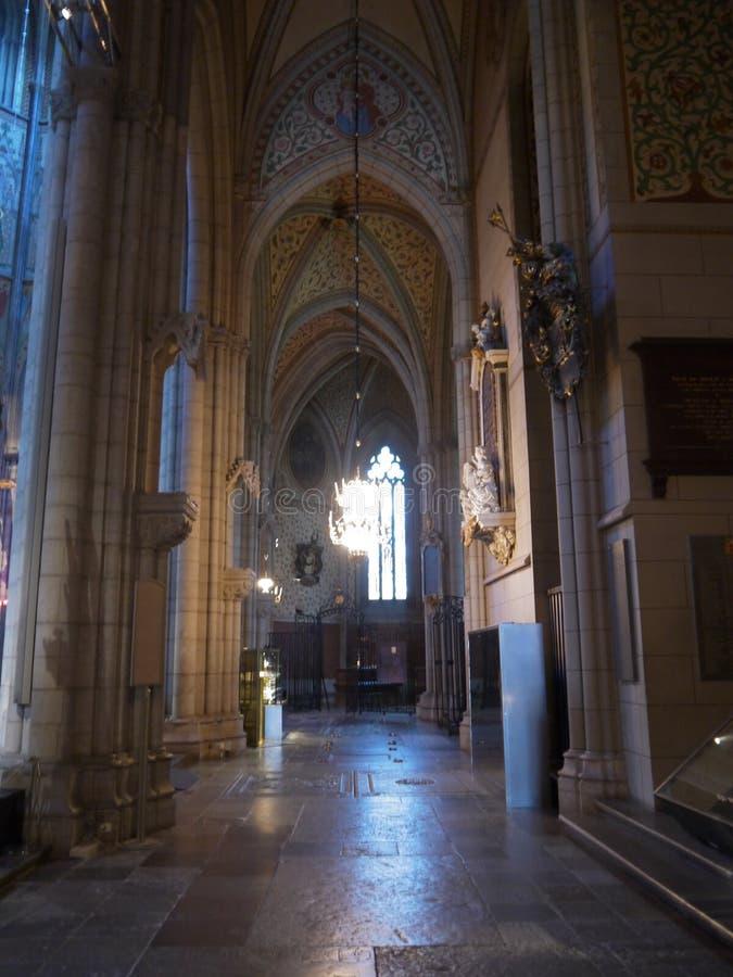 Gotische Kerk in Uppsala royalty-vrije stock foto