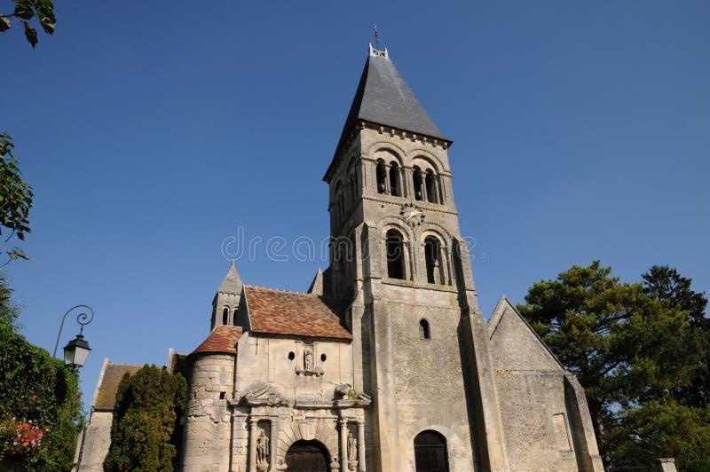 gotische kerk van Morienval in Picardie royalty-vrije stock fotografie
