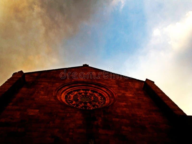 Gotische Kirche des Klosters von Santa Clara in Vila tun Conde stockbild