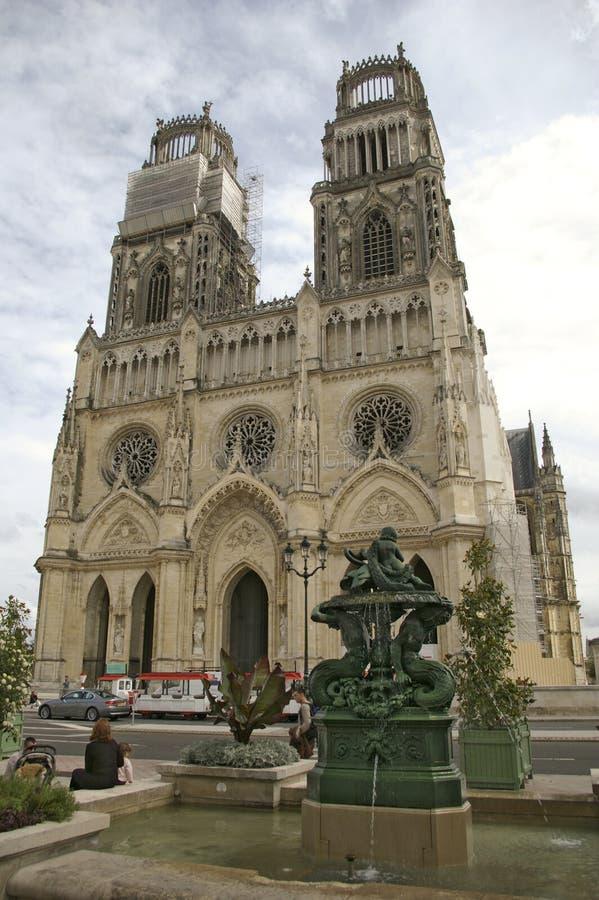 Gotische Kirche Orleans Frankreich lizenzfreie stockbilder