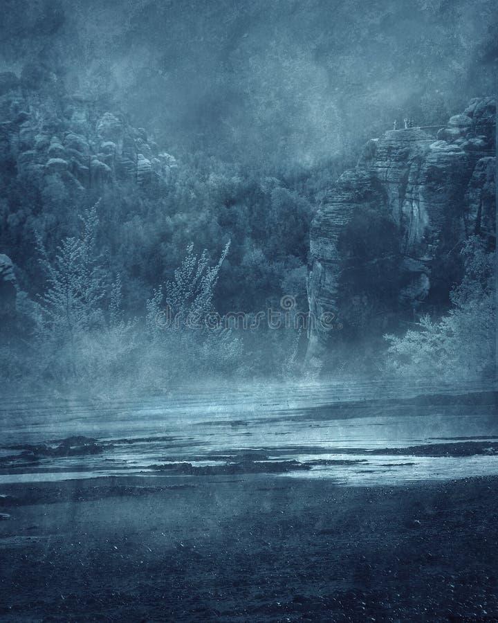 Gotische Landschaft 02 stock abbildung