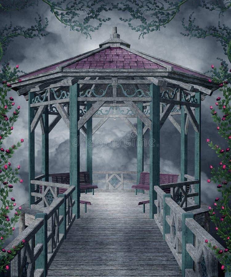 Gotische Landschaft 108 stock abbildung