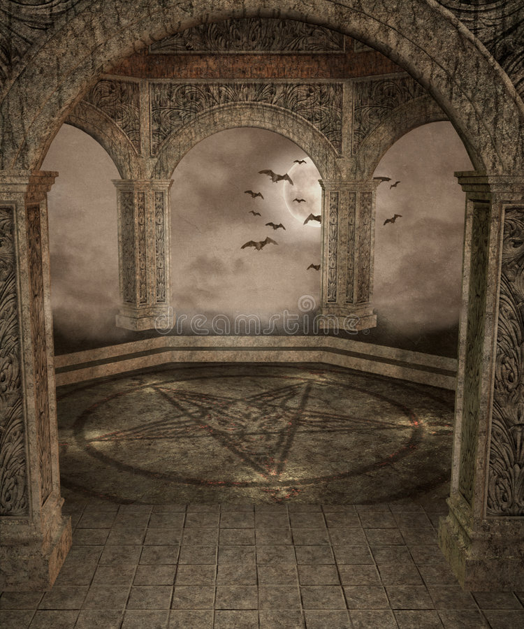Gotische Landschaft 44 lizenzfreie abbildung