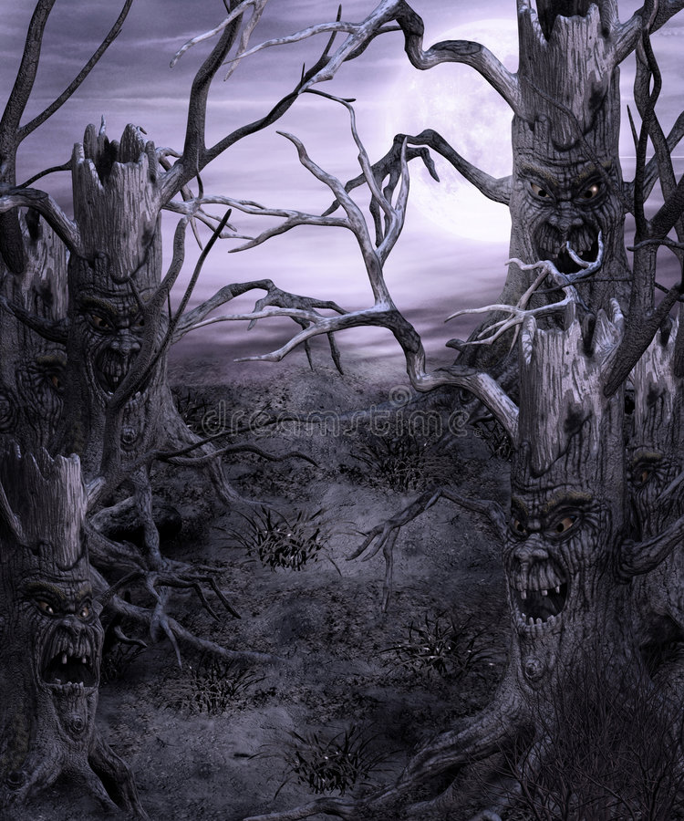 Gotische Landschaft 51 vektor abbildung