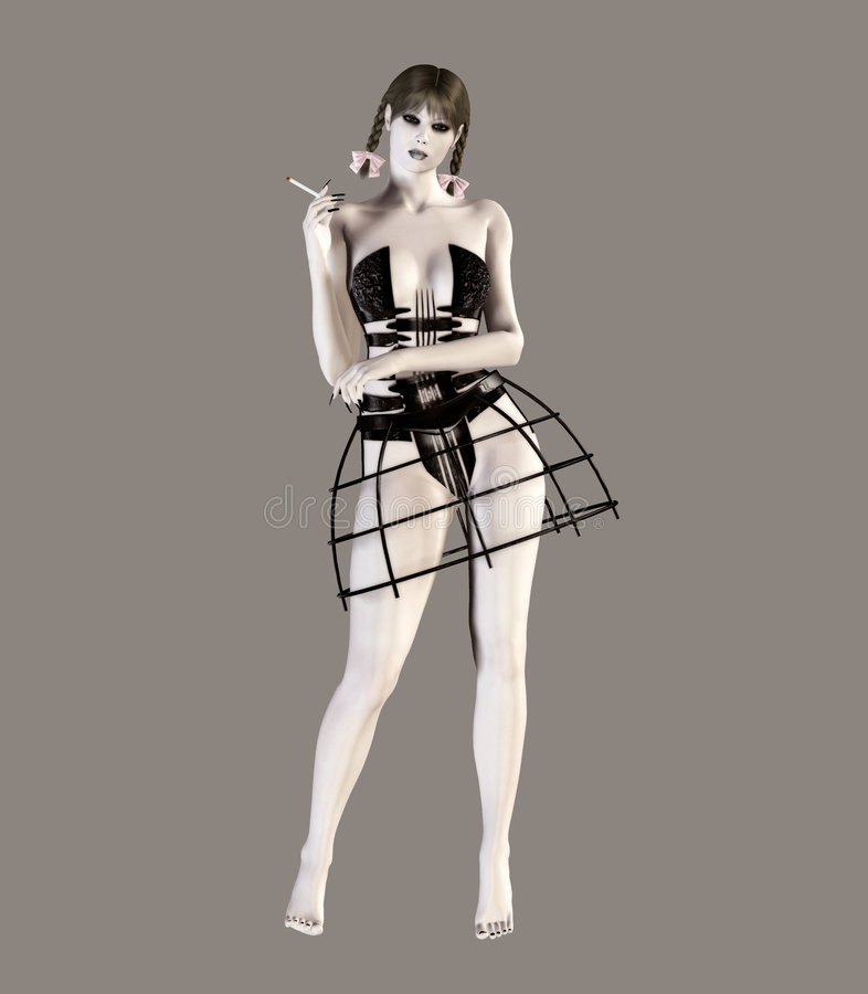 Gotische Lolita stock illustratie