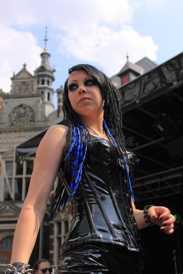 Gotische modeshow stock fotografie