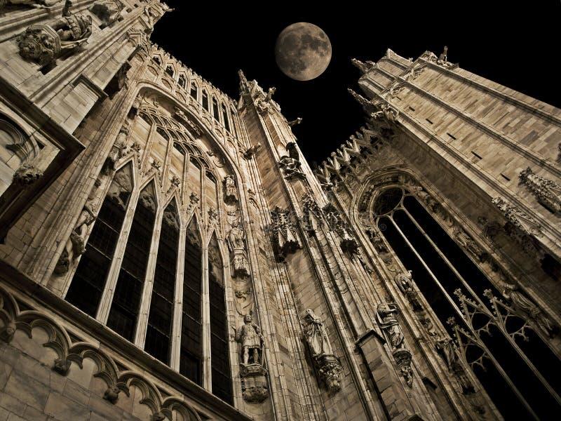 Gotische Nacht stockbild