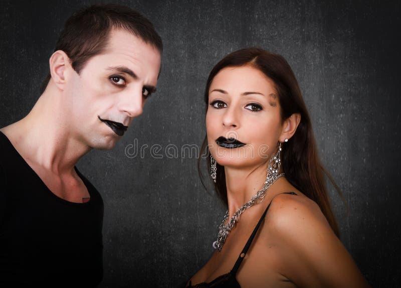 Gotische Paare schließen oben lizenzfreies stockfoto