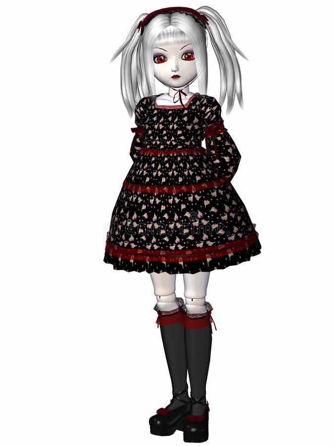 Gotische Puppe vektor abbildung