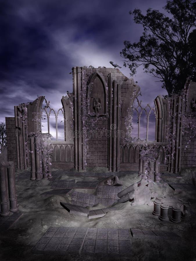 Gotische Ruinen 2 stock abbildung